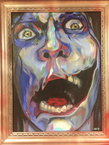 Kuchisake Onna painting by Dski One