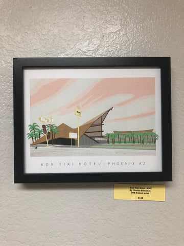 Kon Tiki Hotel LTE framed print by Charlie Edmonds - select version