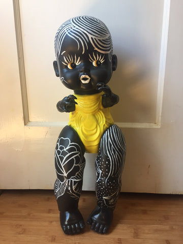"Itoyo Hand Painted 24"" Baby - black/yellow tattoo"