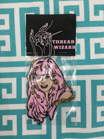 Pink Haired Girl Patch by Thread Wizard