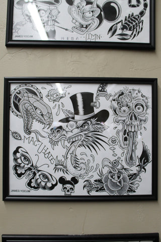 Framed Flash Sheet 2 by Aaron Coleman