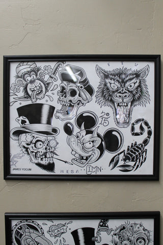 Framed Flash Sheet 3 by Aaron Coleman
