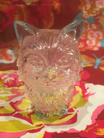Dcon Cat Cupcake - clear with glitter