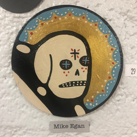 White Skull with Halo (29) by Mike Egan