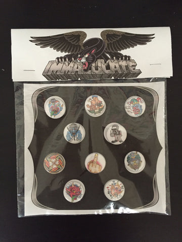 Immaculate Tattoo Button/Sticker Packs
