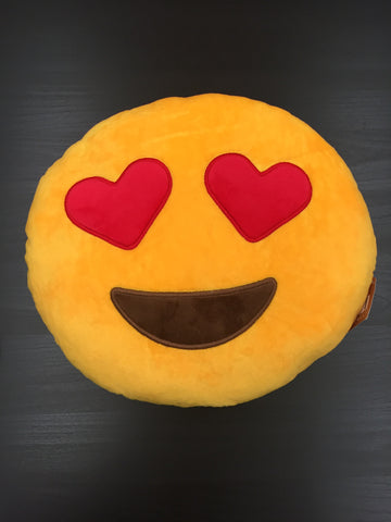 Heart Eyes Emoji Plush Pillow