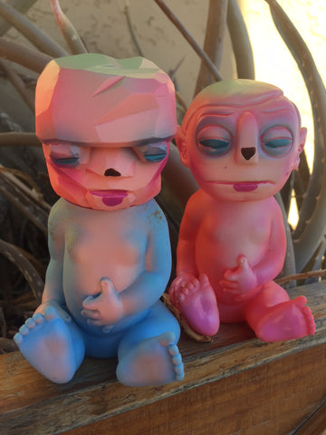 Monster Babies - pink/blue - blind
