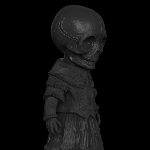 Skellene Mourning Doll - unpainted black **