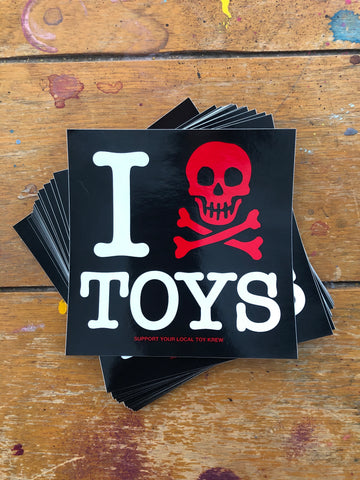 "Support Your Local Toy Krew 4"" sticker"