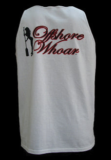 Mens Logo Tank Top White - offshorewhoar