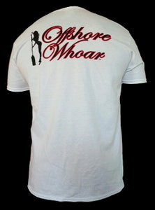 Mens Logo T-Shirt White - offshorewhoar