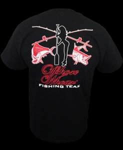 Mens Fishing Team T-Shirt Black - offshorewhoar