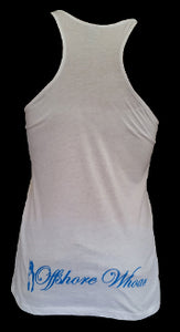 Womens Free Diver Tank Top White - offshorewhoar