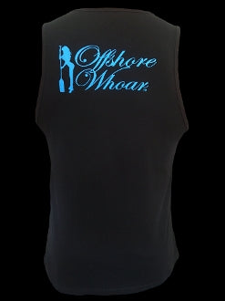 Blue Logo Tank Top Black - offshorewhoar