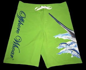 Board Shorts Green Marlin - offshorewhoar
