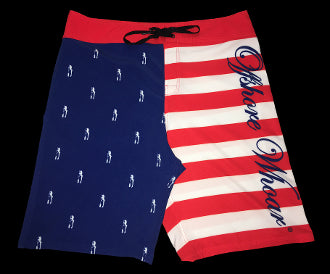 Board Shorts American Flag - offshorewhoar