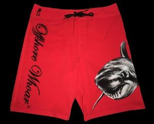 Board Shorts Shark Red - offshorewhoar