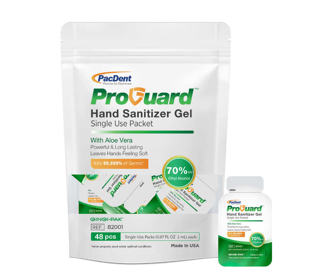 ProGuard™ 70% Hand Sanitizer Gel Single Packet
