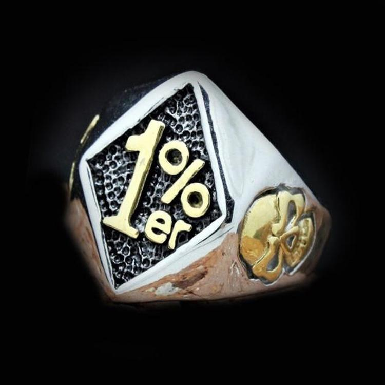 1%ER SKULL RING - Rebelger.com