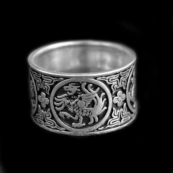 925 CHINESE SYMBOLS RING-Rebelger.com