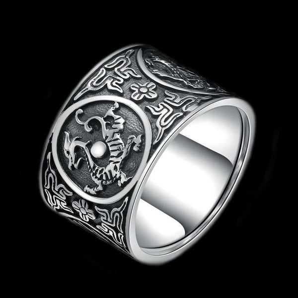 925 CHINESE SYMBOLS RING - Rebelger.com