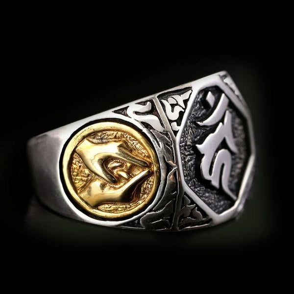 925 TIBETAN PRAYER HANDS RING - Rebelger.com