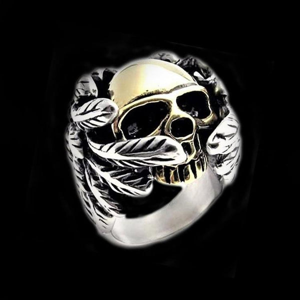 ANGEL OF DEATH SKULL RING - Rebelger.com