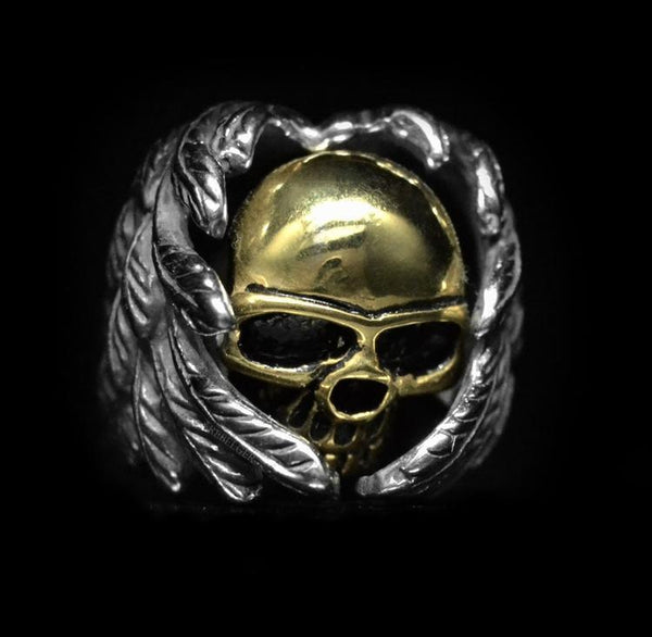 ANGEL OF DEATH SKULL RING-Rebelger.com