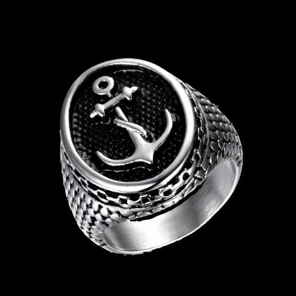ANTIQUE ANCHOR RING-Rebelger.com