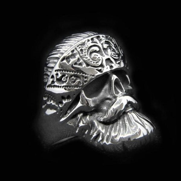 BEARDED BIKER  RING - Rebelger.com