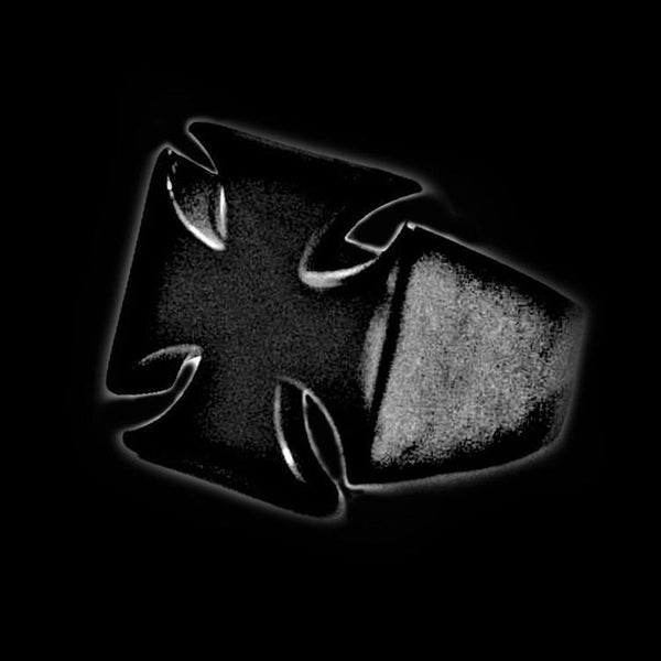 BLACK CROSS RING-Rebelger.com