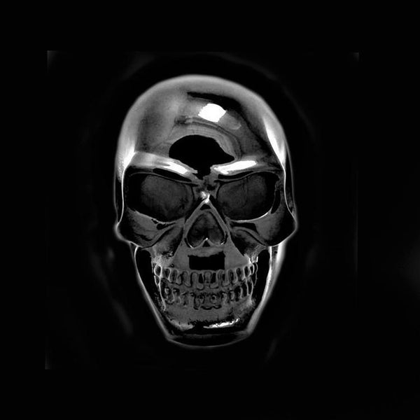 BLACK HEAVY GRIN SKULL RING - Rebelger.com