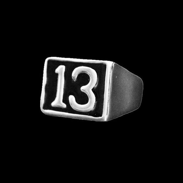 BLACK LUCKY 13 RING - Rebelger.com