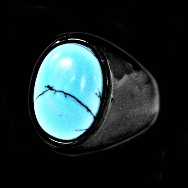 BLACK NAVAJO STONE RING - Rebelger.com