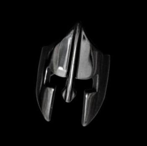 BLACK SPARTAN HELMET RING - Rebelger.com