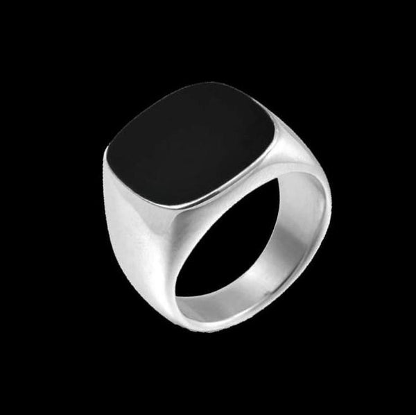 BLACK TOP SQUARE RING - Rebelger.com