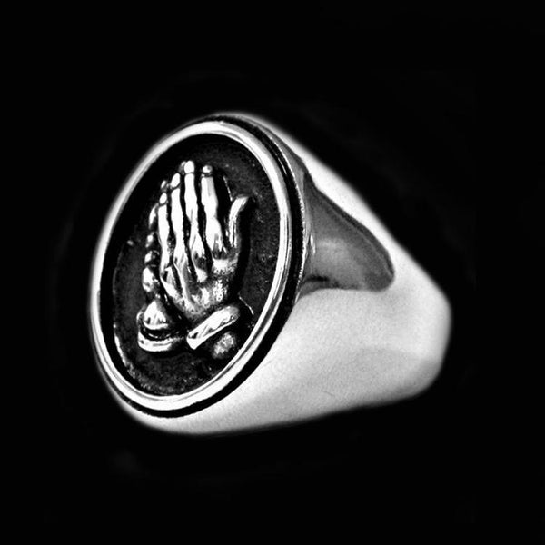 BLESSED PRAYER HANDS RING - Rebelger.com