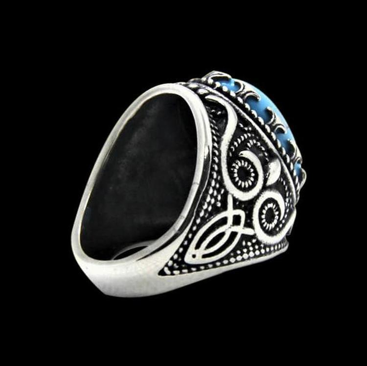 BLUE GEM STONE RING - Rebelger.com