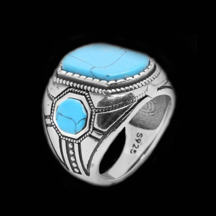 BLUE STONE 925 RING-Rebelger.com