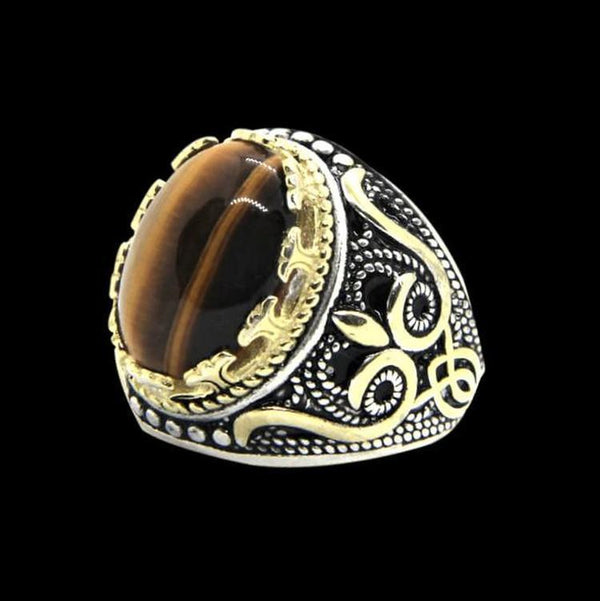 BROWN GEMSTONE RING-Rebelger.com