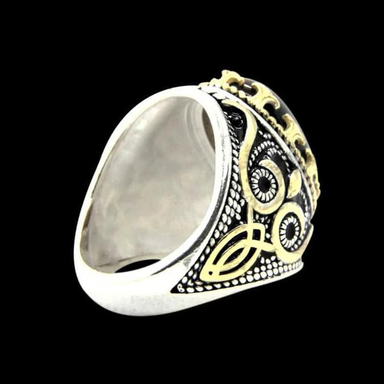 BROWN STONE 925 RING - Rebelger.com