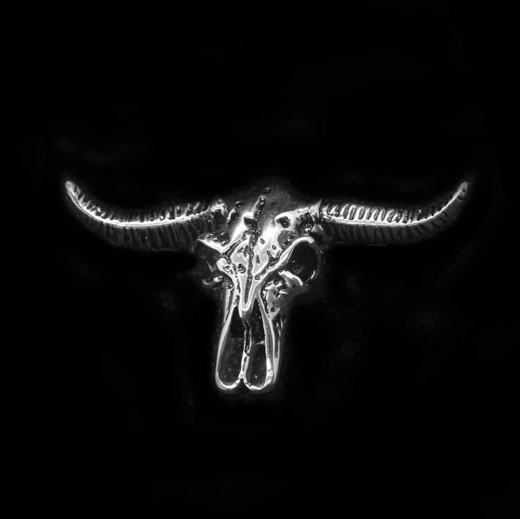 BULL SKULL HEAD NECKLACE-Rebelger.com