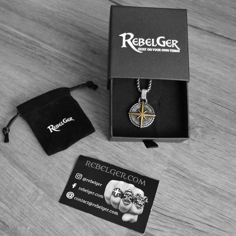 COMPASS NECKLACE-Rebelger.com