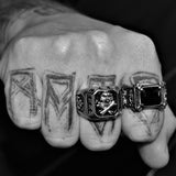 CROSS GEM RING-Rebelger.com