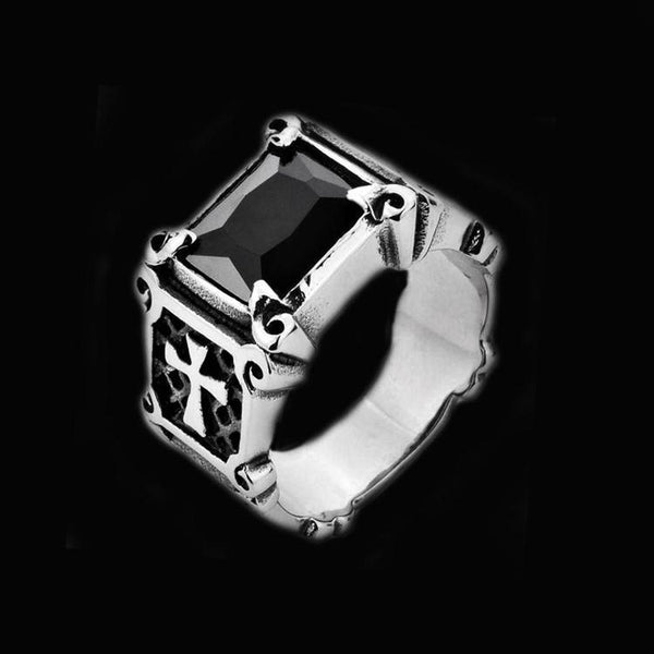 CROSS GEM RING - Rebelger.com