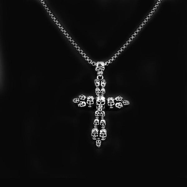 CROSS SKULL NECKLACE - Rebelger.com