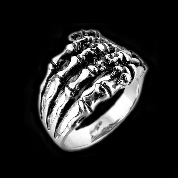 DEATH TOUCH BONE RING-Rebelger.com