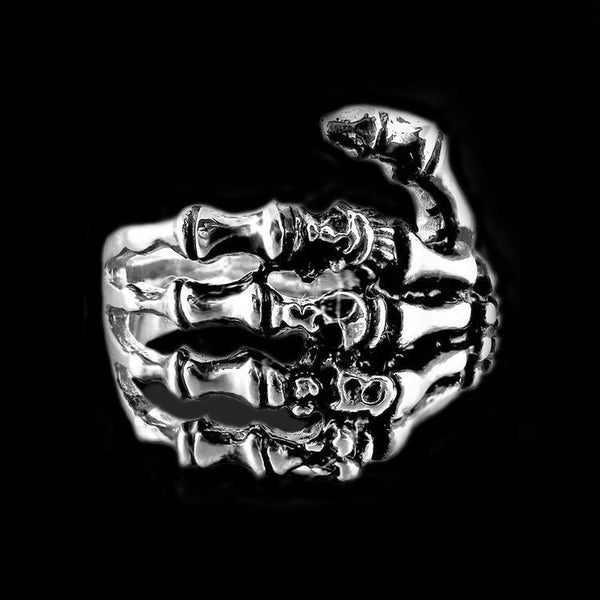 DEATH TOUCH BONE RING - Rebelger.com