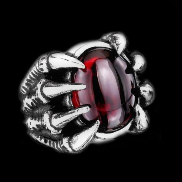 DRAGON EYE CLAW GEM RING - Rebelger.com