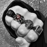 DRAGON EYE CLAW GEM RING-Rebelger.com
